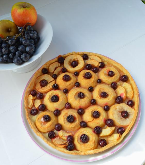 Tarte de Metz aux pommes et aux raisins