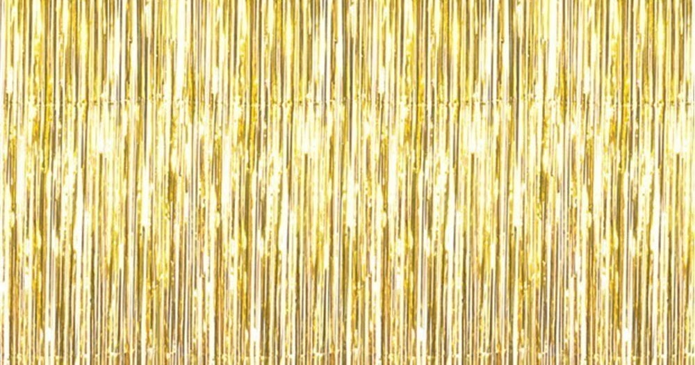 Not Just Another Southern Gal: Metallic Gold 3ft X 8ft Gold Foil Fringe  Curtains For Parties
