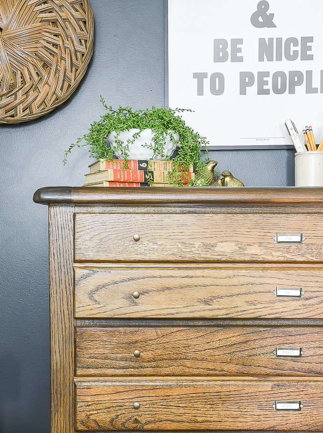 Vintage inspired map cabinet hardware