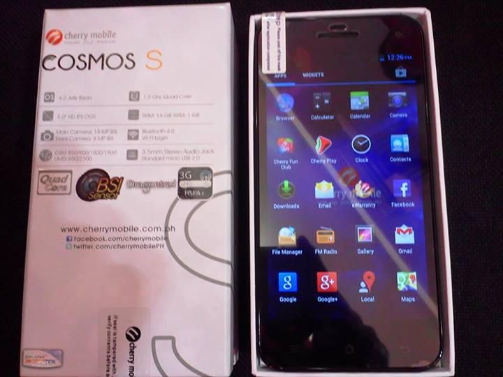 Cherry Mobile Cosmo S Specs, Price and Availability