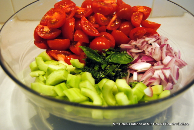 Tomato Basil & Cucumber Salad at Miz Helen's Country Cottage