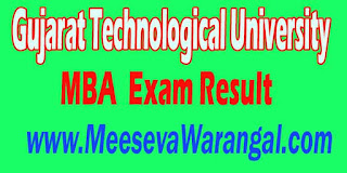 Gujarat Technological University MBA IV Sem Regular 2016 Exam Result