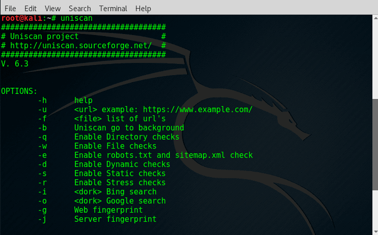 Scan for website vulnerabilities using Uniscan tool in Kali Linux-crackitdown
