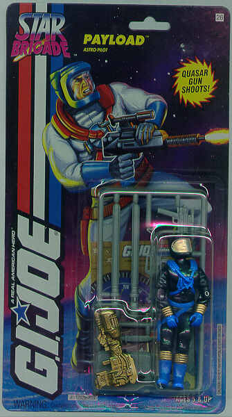1994 Star Brigade Payload, Variant, Carded, MOC, Rare G.I. Joe Figures