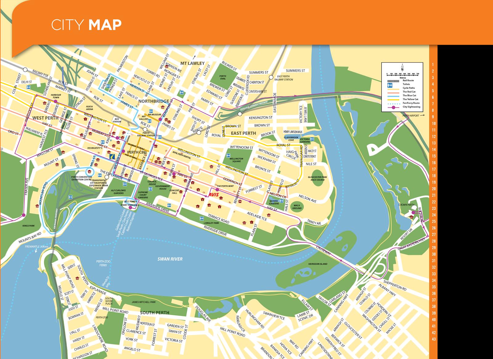 Map Of Crown Perth