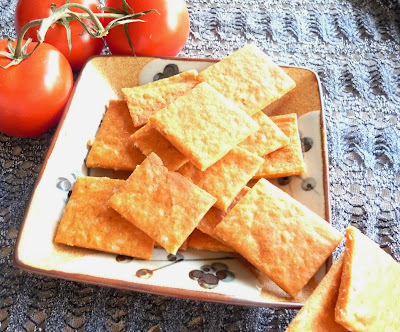Cheddar Cheese and Red Lentil Crackers