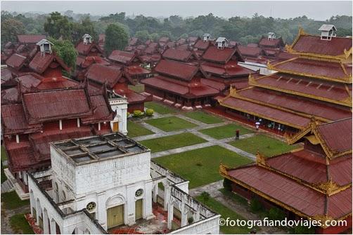 vista del palacio de Mandalay