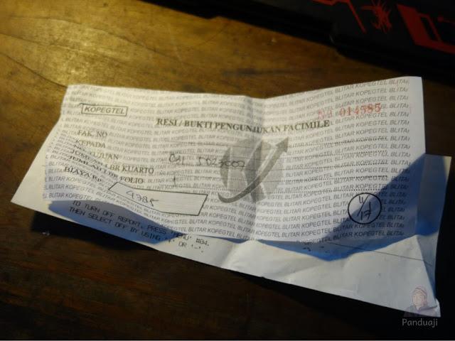 Bukti pembayaran Fax