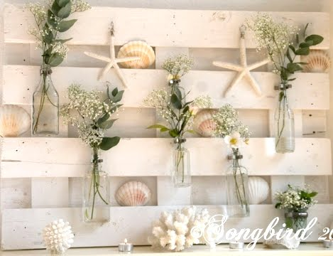 wood pallet decor for mantel