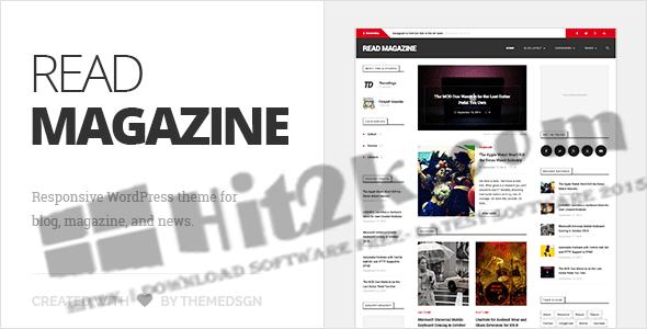 Read Magazine v1.0 WordPress Theme Download