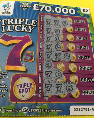 £2 Triple Lucky 7s Scratch Card (2019)