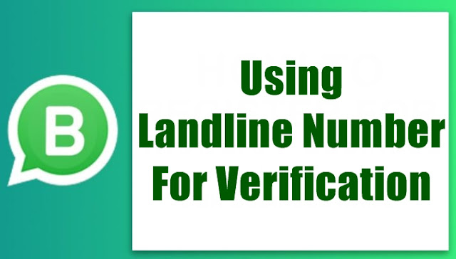 Step Three Using Landline Number