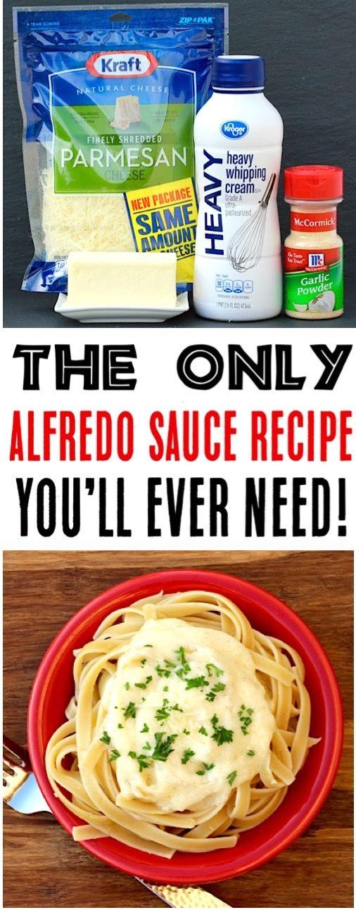 Easy Garlic Alfredo Sauce Recipe