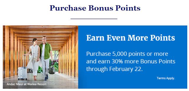 凱悅Hyatt購買5000積分贈送最高30%獎勵(2019年2月22日截止)