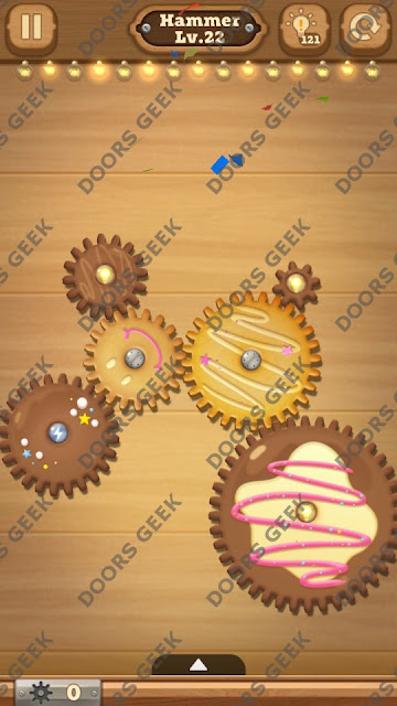 Fix it: Gear Puzzle [Hammer] Level 22 Solution, Cheats, Walkthrough for Android, iPhone, iPad and iPod