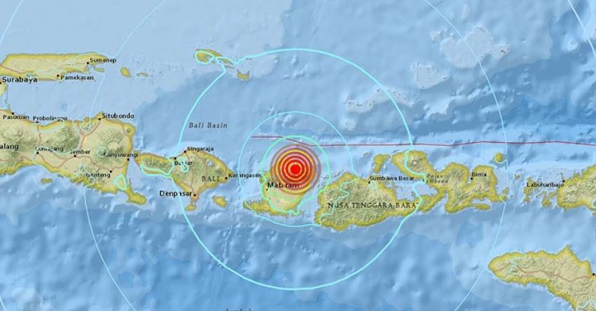 TERREMOTO EN INDONESIA de Magnitud 6.4 - Alerta de Tsunami (Hoy Sábado 28 Julio 2018) Sismo Temblor EPICENTRO - Lelongken - Lombok - Mataram - Bali - Java - USGS