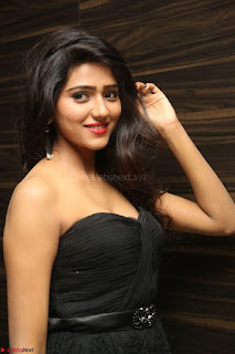 Shalu Chourasiya in spicy Sleeveless Strapless Black Top at O Pilla Nee Valla Movie Audio Launch Feb 2017 071.JPG