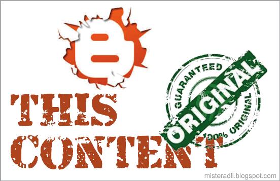 Hindari hukuman Google dengan konten Original