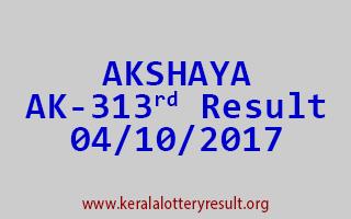 AKSHAYA Lottery AK 313 Results 4-10-2017