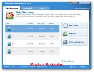 WinMend Data Recovery Portable