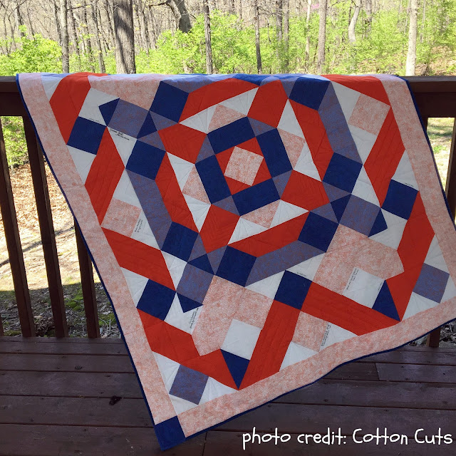 Cotton Cuts - Mystery Raffle Quilt Reveal by www.madebyChrissieD.com