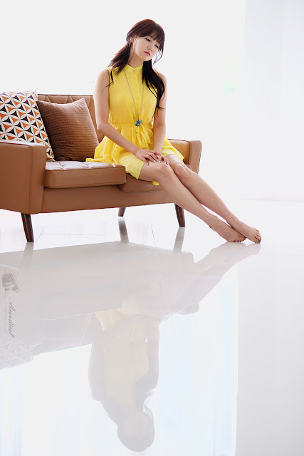 3 Han Ga Eun in Yellow- very cute asian girl - girlcute4u.blogspot.com