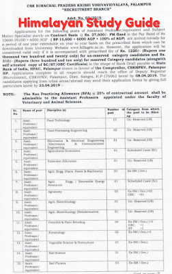 Himalayan Study Guide: HP Agriculture University Various