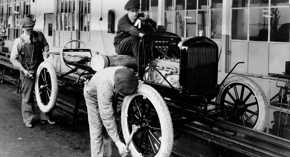 Ford pioneered the first assembly line 104 years ago today for Motor city assembly line