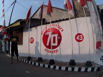 RT43 Keparakan Lor, 70 tahun indonesia merdeka