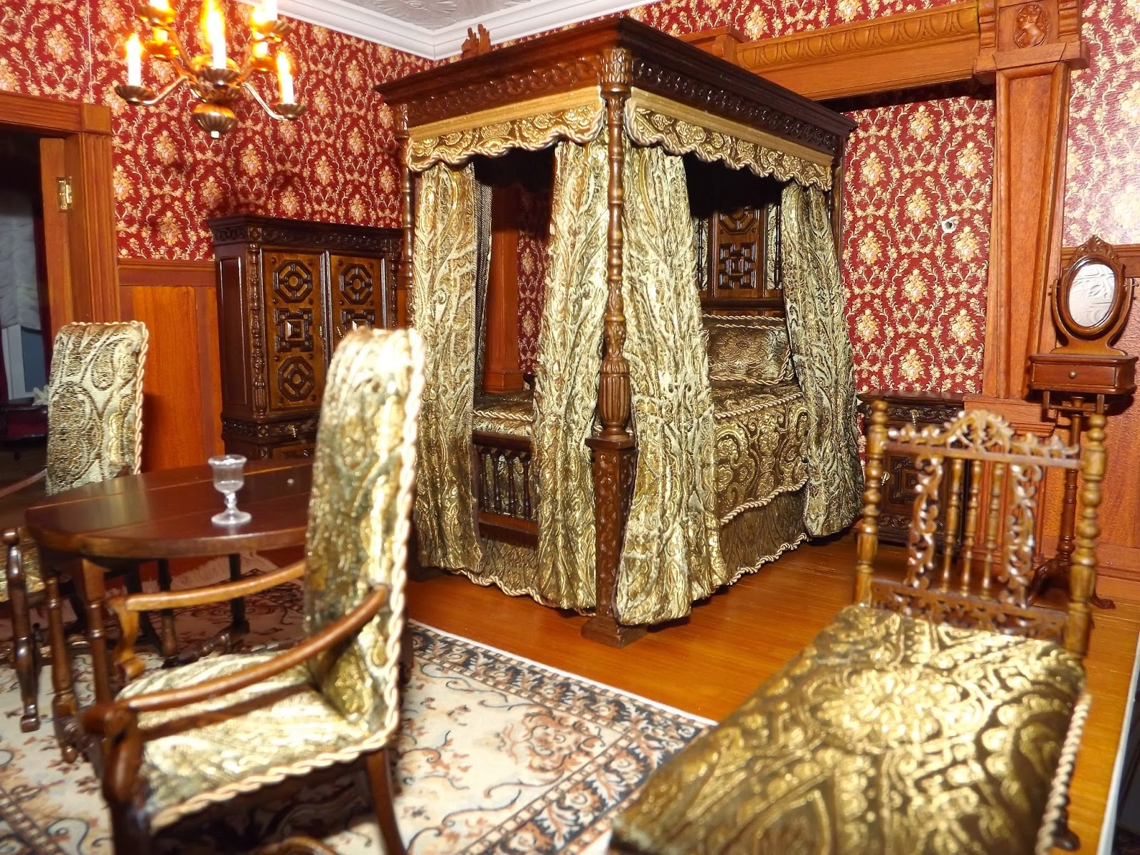 Late Victorian English Manor Dollhouse 1 12 Miniature From Scratch The Earl 39 S Bedroom Is Finished