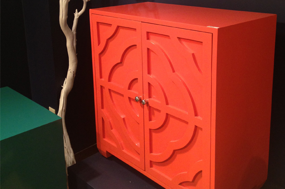 Gorgeous Coral Chest With Design On The Doors.
