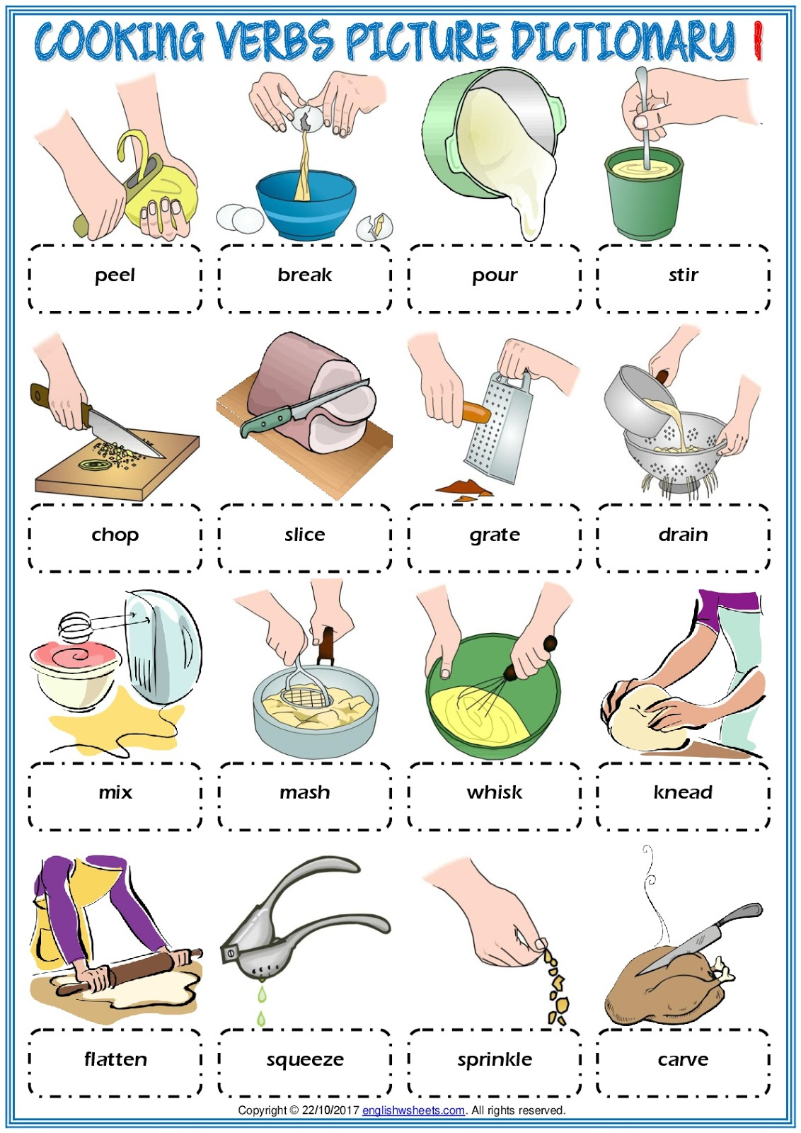 Gainzuri English Cooking Verbs