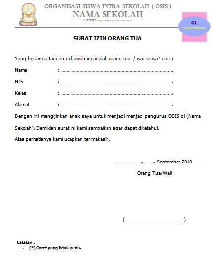 Created For Just One Purpose Contoh Surat Izin Orang Tua