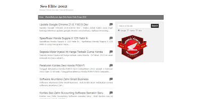 Seo Elite 2012, Template Blog SEO