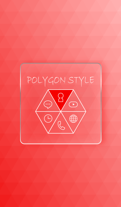 POLYGON STYLE - RED -