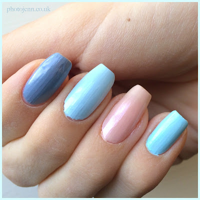 Essie-Cocktail-Bling-Borrowed-and-Blue-Time-For-Me-Time-Mint-Candy-Apple