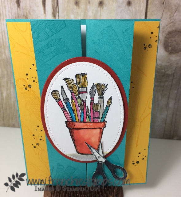 Z Fold Card, Crafting Forever, Stampin'Up! Frenchiestamps,