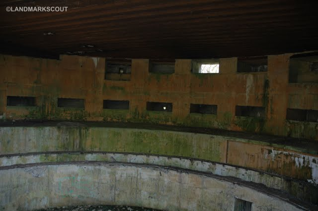 Because it is sealed to house bats, Turm II is not littered with graffiti Battery Todt, Audinghen Cap Gris Nez France