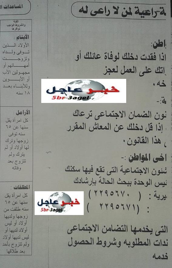 الحكومة المصرية بالمستندات - تبدأ تنفيذ برنامج تكافل وكرامة للشباب والمواطنين والاوراق المطلوبة