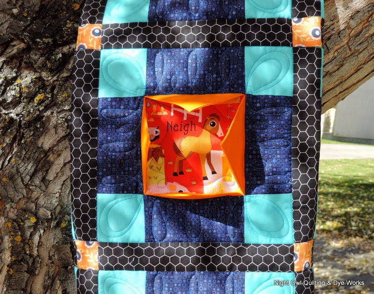 Night Owl Quilting Amp Dye Works Peekaboo Baby Quilt 2
