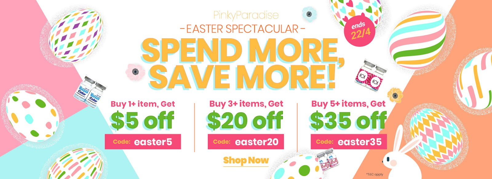 PinkyParadise Easter Sale - Get $35 off your order
