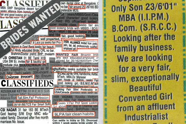From the Eyes of a City Girl: Matrimonial Advertisements – Spread