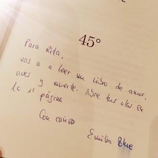 Reseña del libro de emilia blue 45º blog palabras en cadena