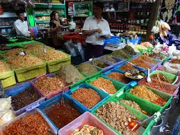 a scene of local market around us