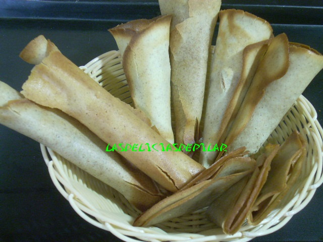 Lasdeliciasdepilar barquillos caseros tulipas y conos for Como echar gotele sin maquina