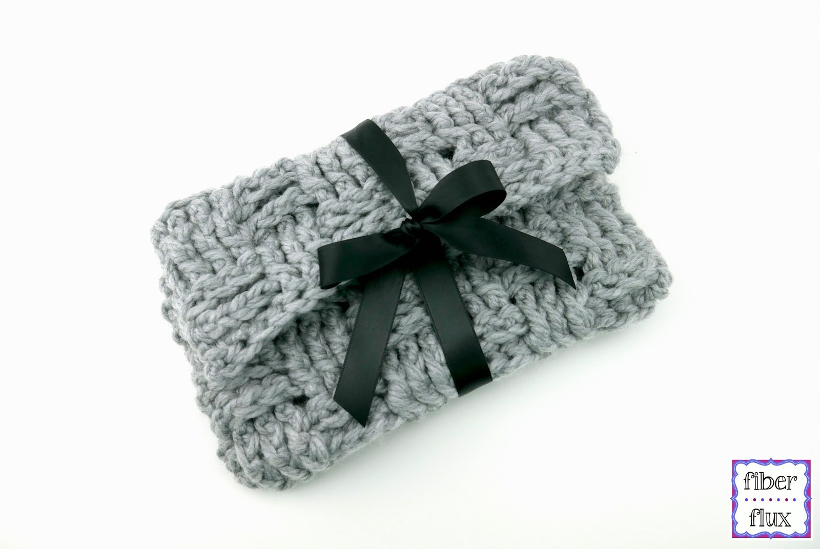 Free Crochet Clutch Pattern : Fiber Flux: Free Crochet Pattern...Woven Ribbon Clutch!