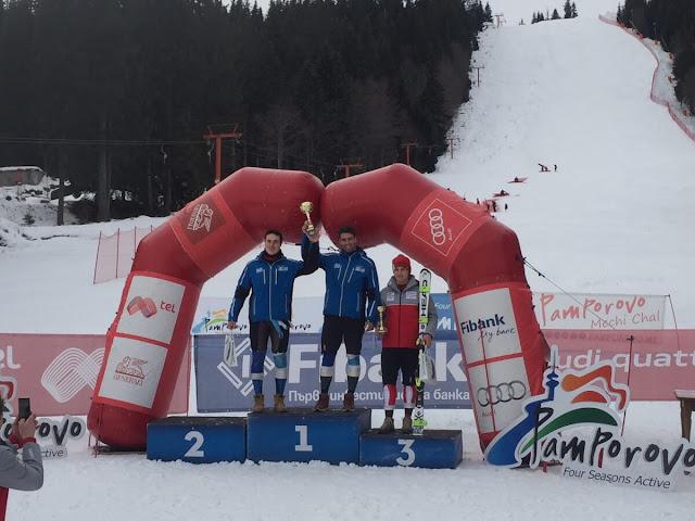 Σούπερ ζευγάρι οι Πρωταθλητές μας Αντωνίου και Πρώιος στο διεθνή αγώνα σκι του Παμπόροβου