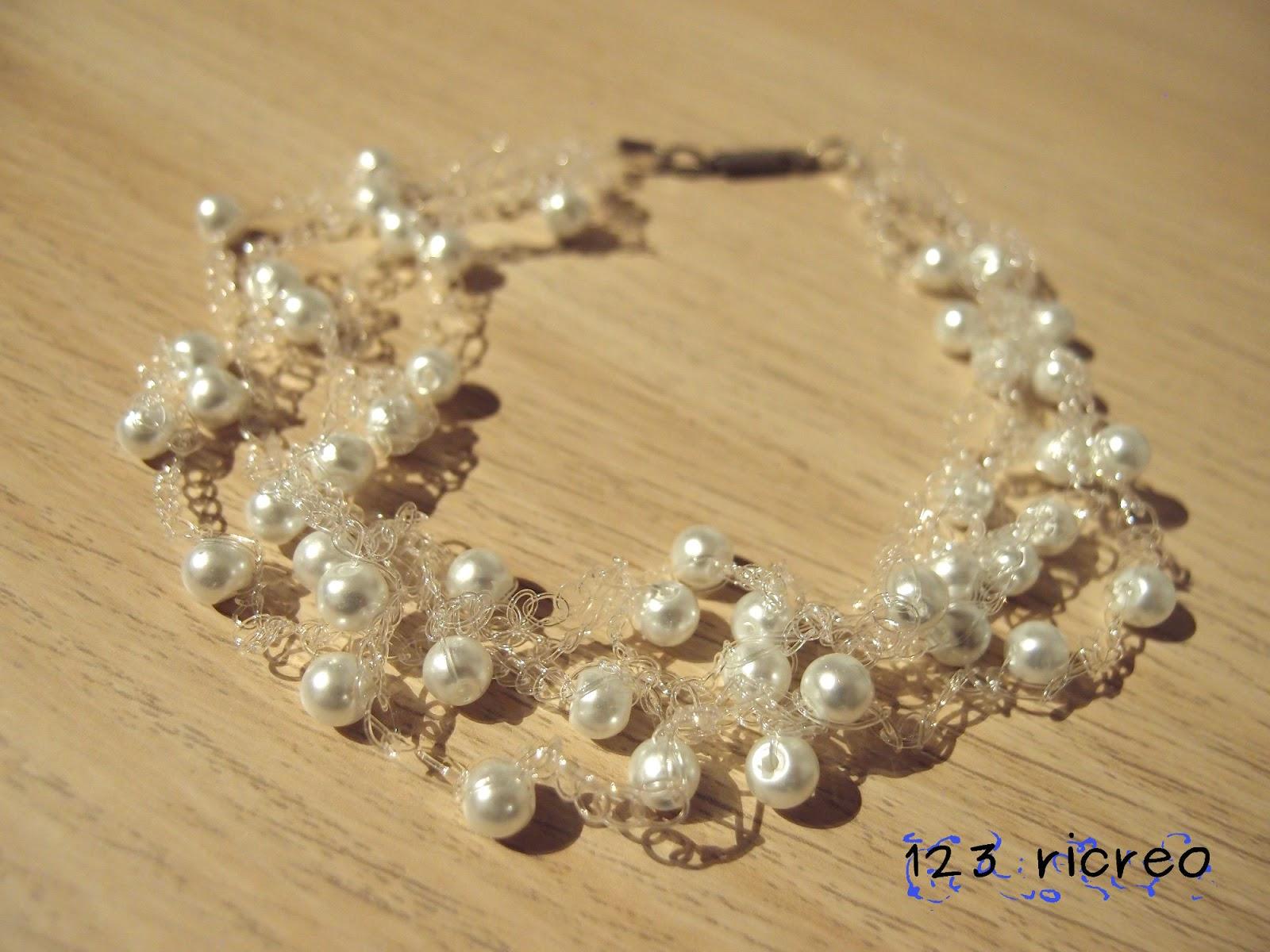 Cucire Con 123ricreo Collana Di Perle Alluncinetto