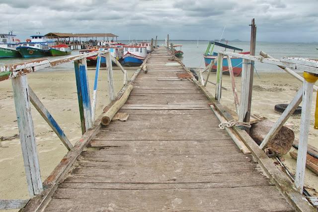 Trapiche das Encantadas na Ilha do Mel no Paraná.
