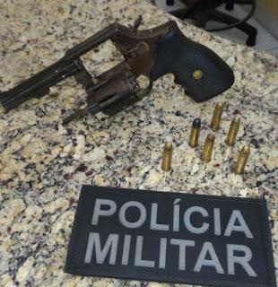 CAXIAS: Polícia Militar apreende arma de fogo no DNER